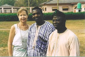 Elaine, Burster and Prof. David Adeniran