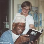 Mr. Bolarinwa in 2004 reading a book