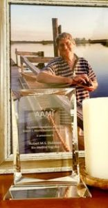 Rob with a huge award from the AAMI
